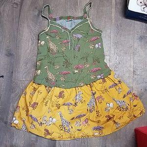 Modcloth Safari Skirt and Top Set